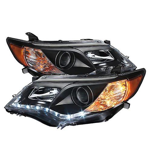 Spyder Auto (PRO-YD-TCAM12-DRL-BK) Toyota Camry noir Projector Headlight with LED Daytime Running Light