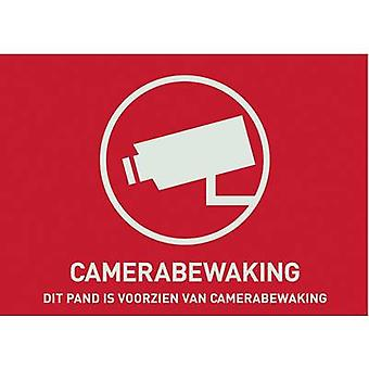 Warning label CCTV Languages Dutch (W x H) 148 mm x 105 mm