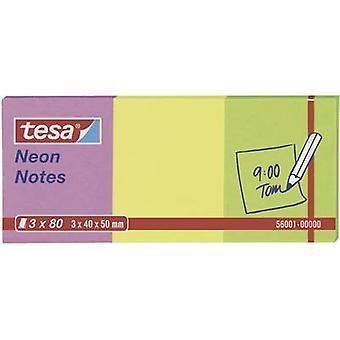 Tesa® Neon Notes 3 x 80 Sheets Pink/Yellow/Green 40 x 50 mm
