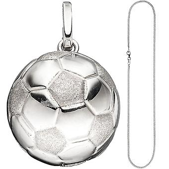 Children trailer soccer 925 Silver football pendant with chain 38 cm