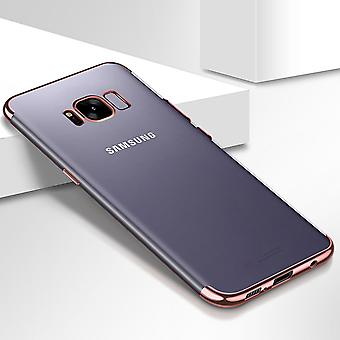 Handy Hülle Schutz Case für Samsung Galaxy A3 2017 Durchsichtig Transparent Rose Pink