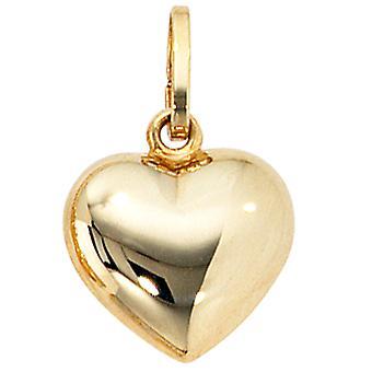 MODENA 333 hart hanger geel goud goud hart hanger