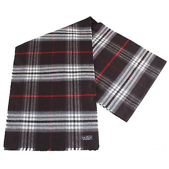 Fraas Checked Scarf - Black