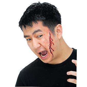 Gash Injury Open Wound Halloween Womens Mens Costume Prosthetic