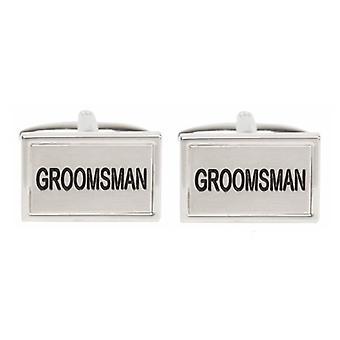 David Van Hagen Groomsman Cufflinks - Silver