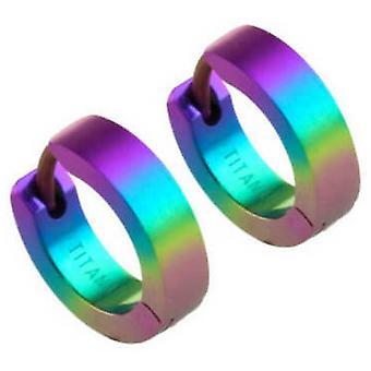 Ti2 Titanium kleine Hoop Earrings - Rainbow B