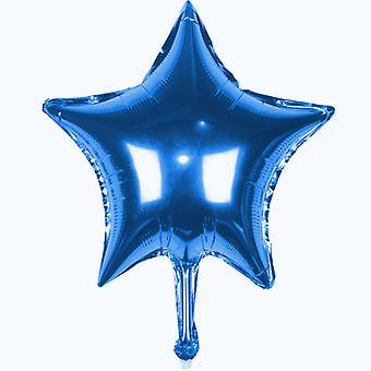 TRIXES 5 x blaue Sterne 45 cm Helium Metallic Ballon zum Party feiern