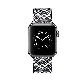 Klockrem silikon dla Apple Watch 4 40 mm, 3/2/1 38 mm-Quadrangle