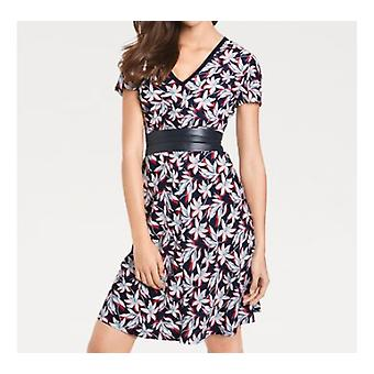 Ashley brooke colorful floral ladies print dress with back cutout