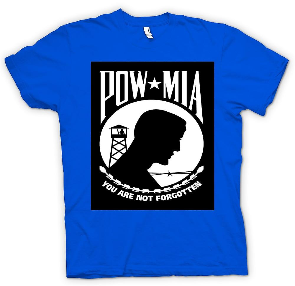 Mens T-shirt - POW MIA - Not Forgotten
