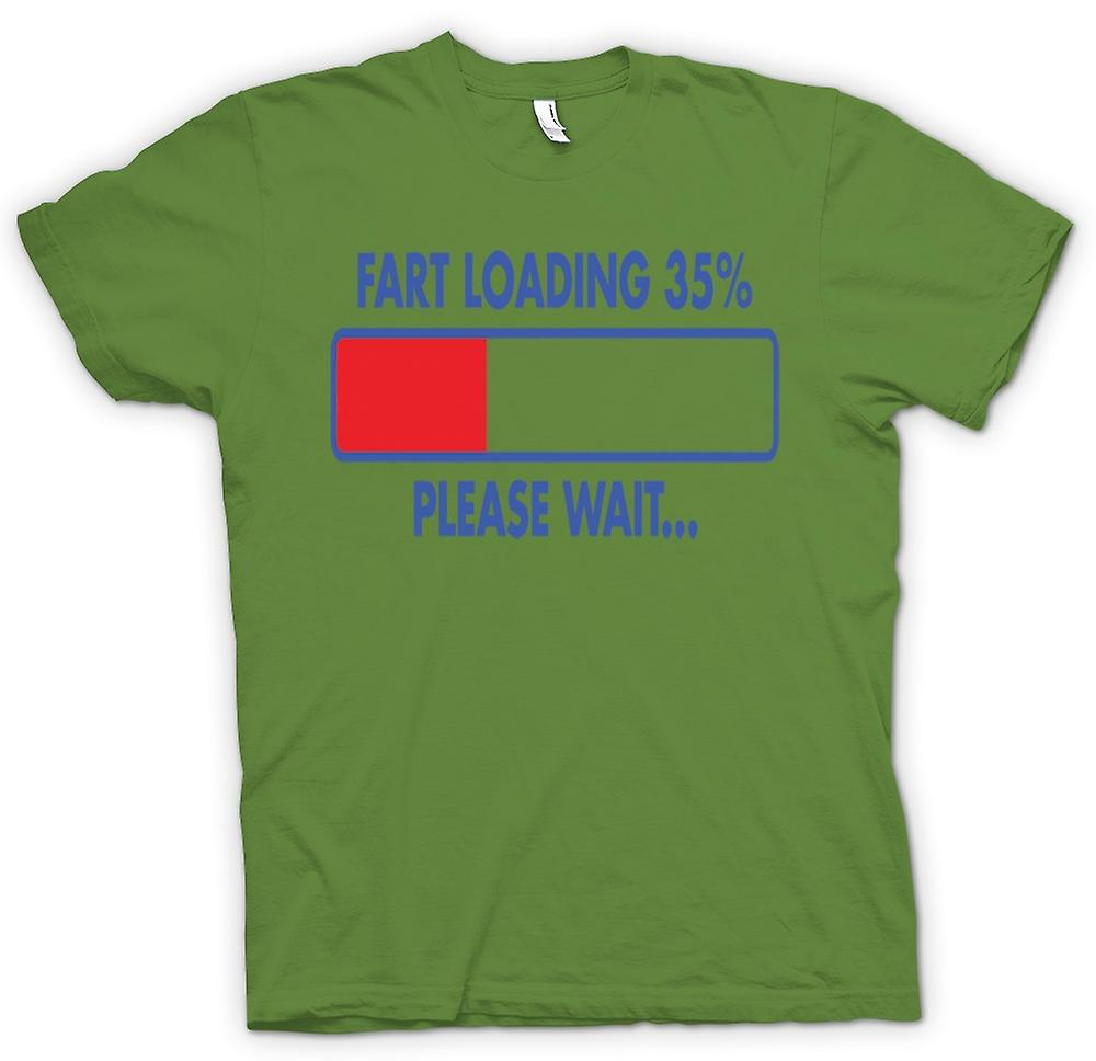 Mens T-shirt - Fart Loading 35%, Please Wait - Quote