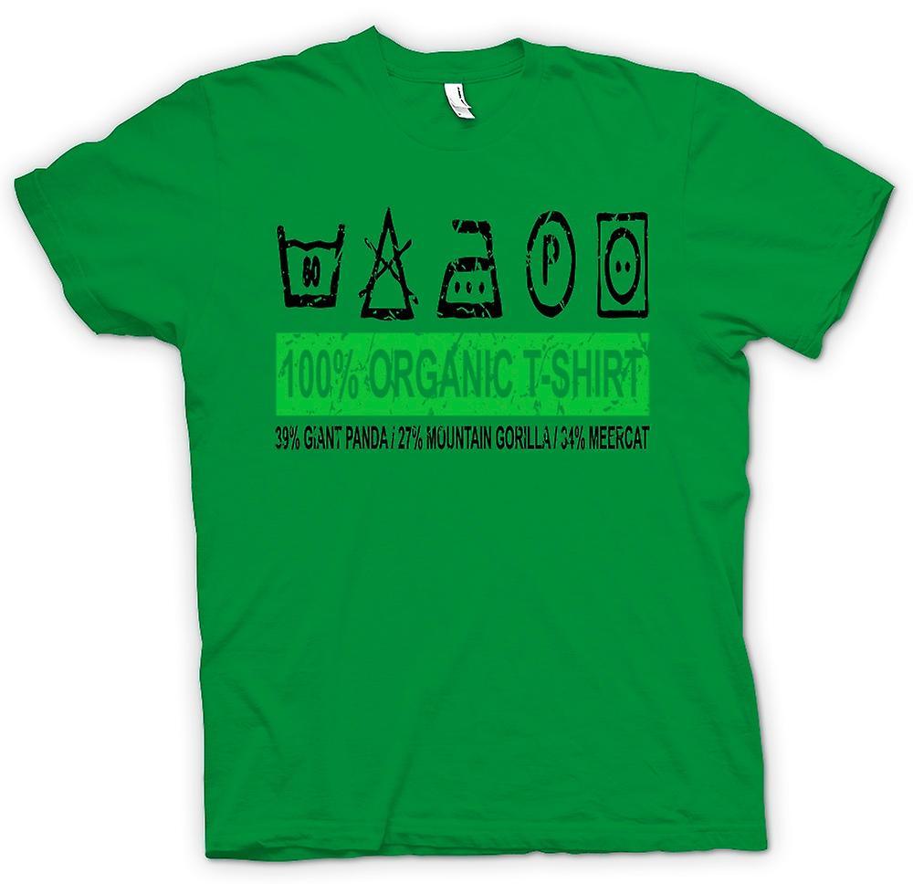 Camiseta para hombre - 100% orgánicos T Shirt - 39% gigante Panda