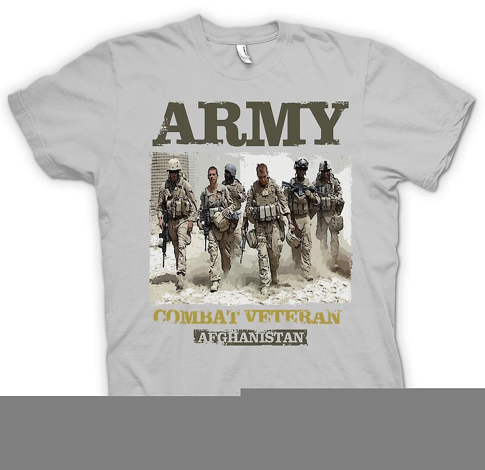 Mens t-shirt - veterano di combattimento dell'esercito - Afghanistan