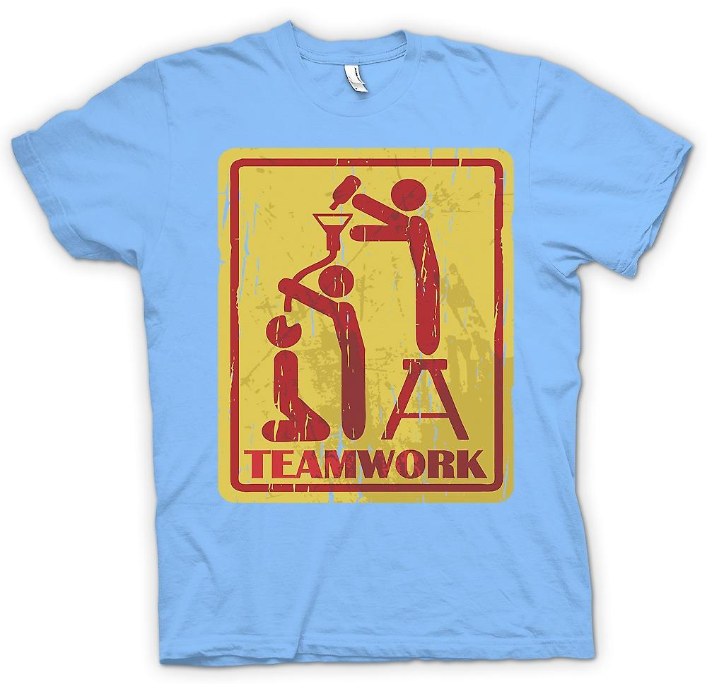 Mens T-shirt - Teamwork - trinken
