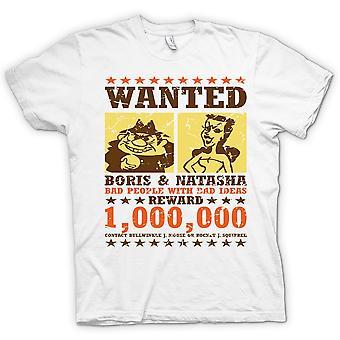 Wanted - Boris & Natasha - Funny - 100% Cotton Short Sleeve Ladies T Shirt