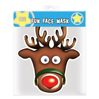 Rudolph die Red Nosed Reindeer Christmas Party Karte Face Mask