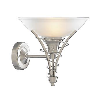 Searchlight 5227SS Linea Satin Silver Wall Light