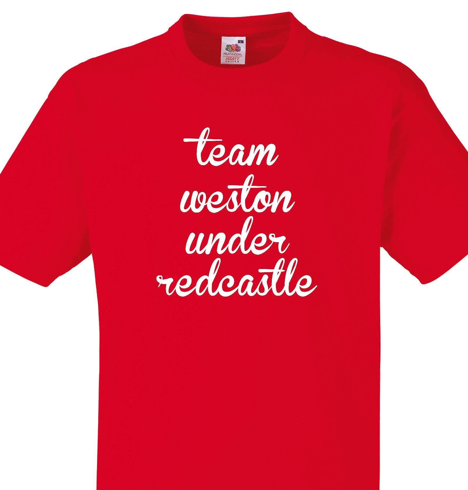 Team Weston under redcastle Red T shirt