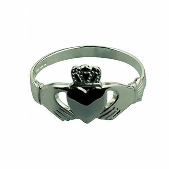 Argento 18x11mm Claddagh Ring dimensioni Q
