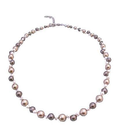 Tiny Swarovski Ivory Pearls Interwoven Bracelet Customize Your Wedding