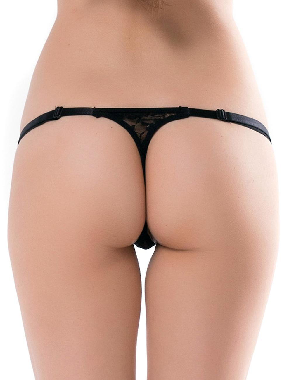 Waooh - Lace Thong with Rhinestone Appo
