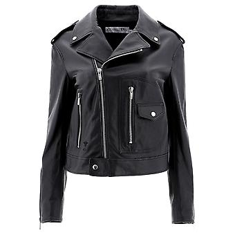 Dior Black Leather Outerwear Jacket