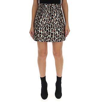 Miu Miu Leopard Wool Skirt