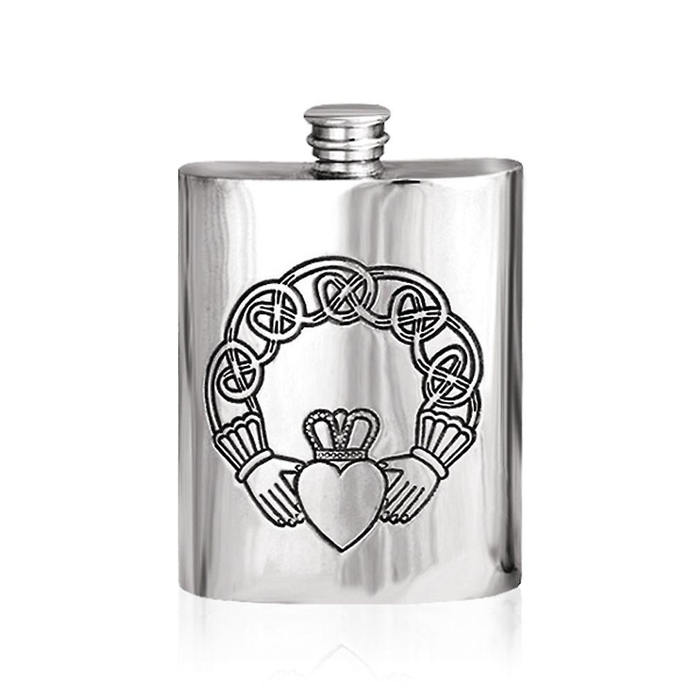 6oz Claddagh kolbe tinn - Ip303