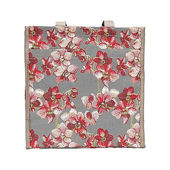 Orchid reusable shopper bag by signare tapestry / shop-orc
