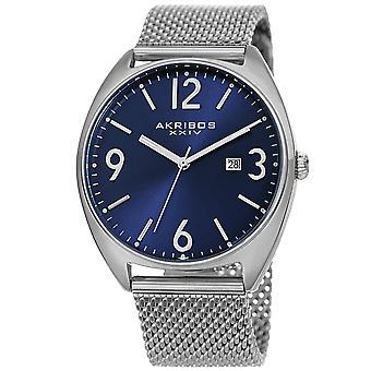 Akribos XXIV Men es Quartz Sunray Dial Mesh Armband Watch AK1026BU
