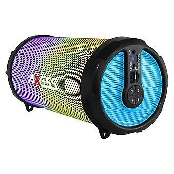 Axess Vibrant Plus Portable Hi-Fi Bluetooth Lautsprecher mit Disco LED Leuchten - Blau
