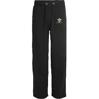 10ème Royal Hussars - Licensed British Army Embroidered Open Hem Sweatpants / Jogging Bottoms