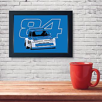 Metro 6R4 Group B Rally Car, Quality Framed Print - Home Decor Kitchen Bathroom Man Cave Wall Art