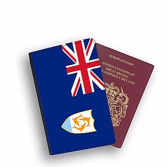 ANGUILLA Flag Passport Holder Style Case Cover Protective Wallet Flags design