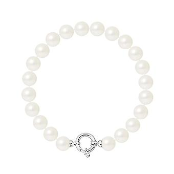 Pearls & Colors Braided bracelet - AM17-BRA-AG-R89-AML-WH