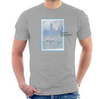 A.P.O.H Oscar Claude Monet Painting Quote Men's T-Shirt