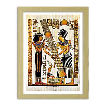 Picture In Natural Frame, Egyptian Hieroglyphics