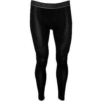 Jockey Merino Wool Stretch Long Johns, Black