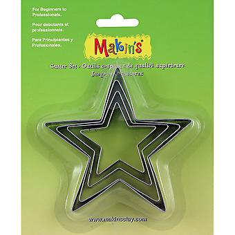 Makin's Clay Cutters 4/Pkg-Star M365-04