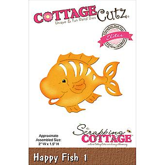 CottageCutz Elites Die -Happy Fish #1, 2