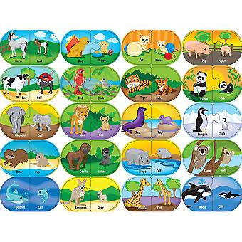 Mini Learning Games 40 Pieces Animal Matching 112 60