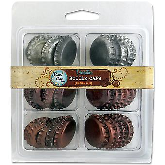 Vintage Collection Double Sided Bottle Caps Multi Pack 30 Pk Patina Sbc30 Ptna