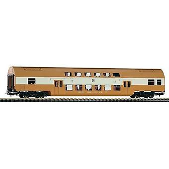 Piko H0 57622 H0 Doppelstockwagen der DR Intermediate Wagon Mustard Pot Brown