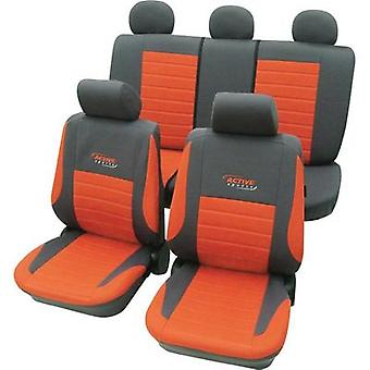 Seat covers 11-piece cartrend 60121 Active Polyester Red