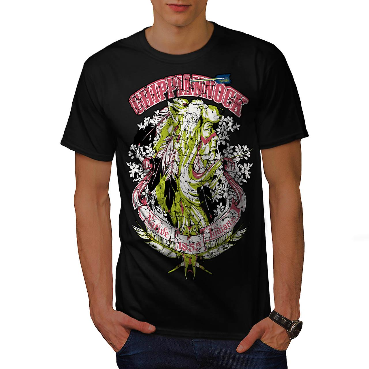 Chippianock Cemetery Burial Land Men Black T-shirt | Wellcoda