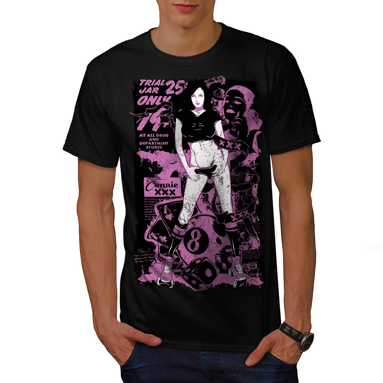 Trial Jar Gambling Casino Girl Men Black T-shirt | Wellcoda