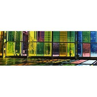 Multi-farbigen Glas in ein Kongresszentrum Palais De Congres De Montreal Montreal Quebec Kanada Poster Print