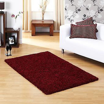 Ultima Shaggy Rug In Red