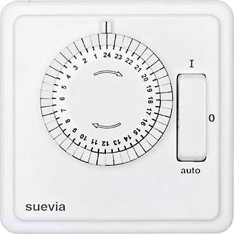 Flush mount timer/power strip analogue 24 h mode Suevia 248.024.9.084 2200 W IP20