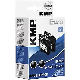 KMP Ink replaced Epson T1631, 16XL Compatible Pack of 2 Black E141D 1621,0021